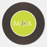 Vinyl Record Custom Wedding Round Sticker