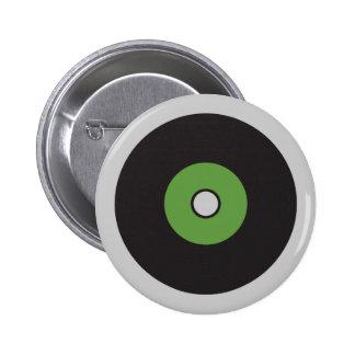Vinyl Record Green Black and Grey Pins