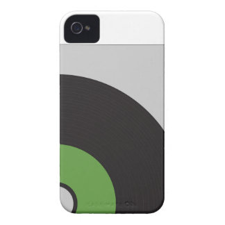 Vinyl Record Green Black and Grey iPhone 4 Cover