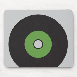 Vinyl Record Green Black and Grey Mouse Pad
