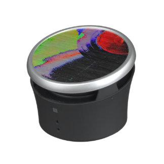 Vinyl record in colors speaker