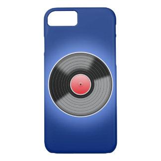 Vinyl Record On Blue iPhone 7 Case