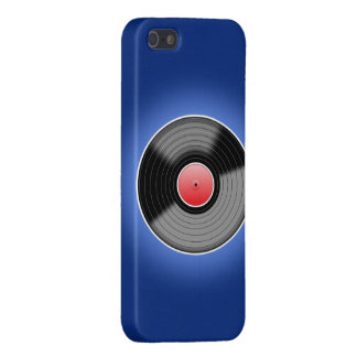 Vinyl Record on Blue Phone Case Covers For iPhone 5