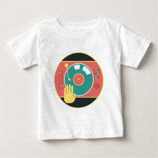 Vinyl-record-player-hand-scratch Baby T-Shirt