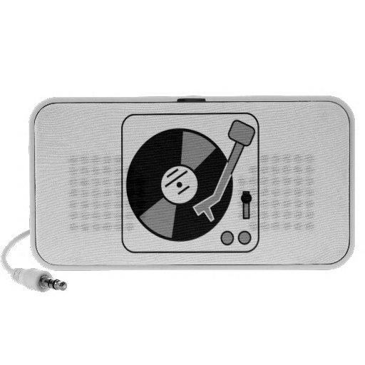 Vinyl Record Player Travelling Speakers