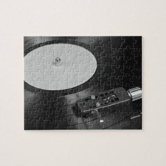 Vinyl Record Playing on a Turntable Overview Jigsaw Puzzle