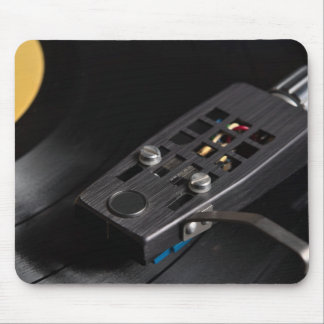Vinyl Record Playing on a Turntable OverviewVinyl Mouse Pad