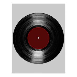 vinyl record postcard