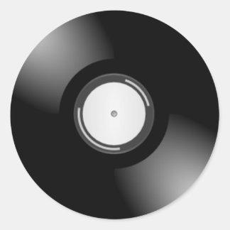 Vinyl Record Round Stickers