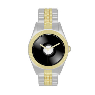 Vinyl Record Two Tone Watch