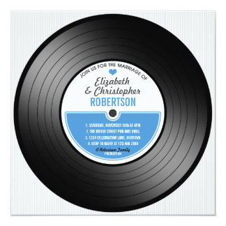 Vinyl Record Wedding Celebration Invitation