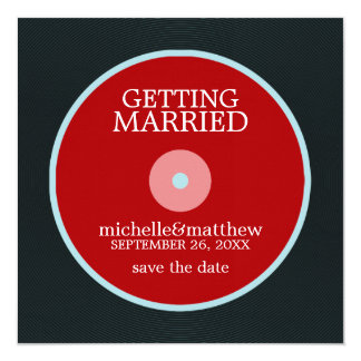 Vinyl Record Wedding Save the Date Card