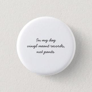 vinyl records 3 cm round badge