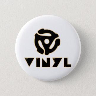 vinyl records 6 cm round badge
