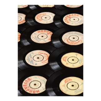 Vinyl Records Background Card