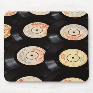Vinyl Records Background Mouse Mat