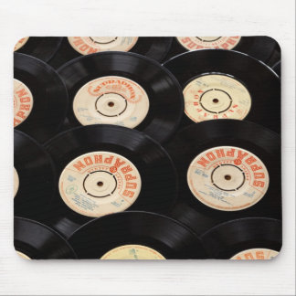 Vinyl Records Background Mouse Pads