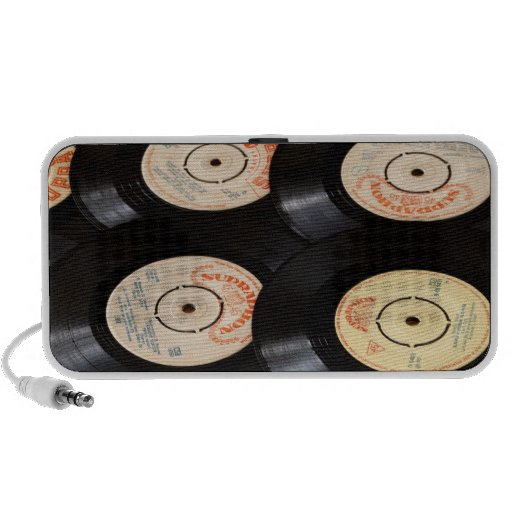 Vinyl Records Background iPhone Speaker