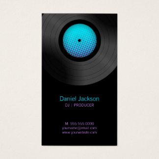 Vinyl Records DJ Music Store Business Card