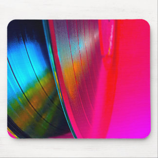 Vinyl records magenta mouse pad