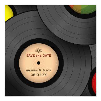 Vinyl Records Retro Save the Date invitation