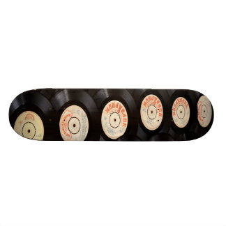 Vinyl Records Stack Skateboard Deck