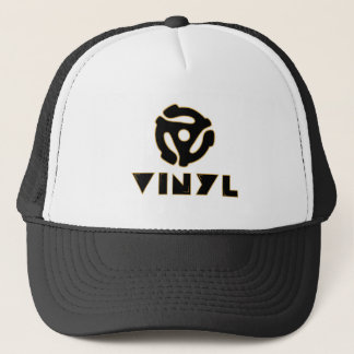 vinyl records trucker hat