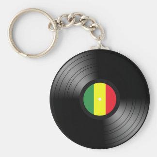 Vinyl reggae key ring