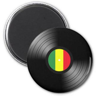 Vinyl reggae magnet