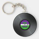 Vinyl Rocks LP Basic Round Button Key Ring