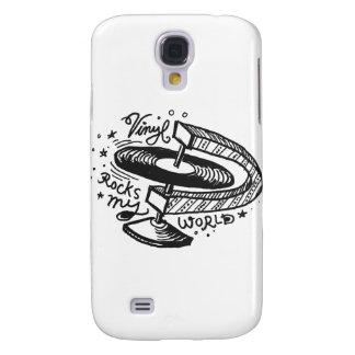 Vinyl Rocks My World 1 Galaxy S4 Covers