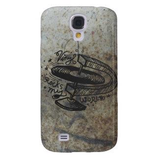 Vinyl Rocks My World 1B Samsung Galaxy S4 Cover