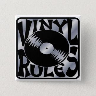 Vinyl Rules 15 Cm Square Badge