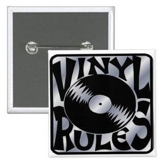 Vinyl Rules Pinback Buttons