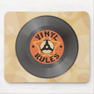 Vinyl Rules Mouse Mat