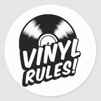 vinyl classic round sticker