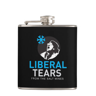 Vinyl Wrapped Flask Liberal Tears with Salty Meter