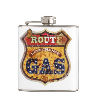Vinyl Wrapped Flask Route66