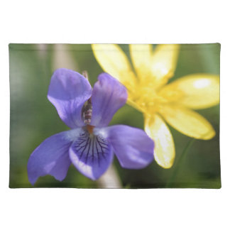 Viola And Ranunculus Place Mat