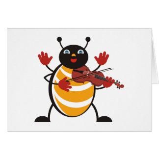 Viola Bug Greeting Card