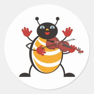 Viola Bug Round Sticker