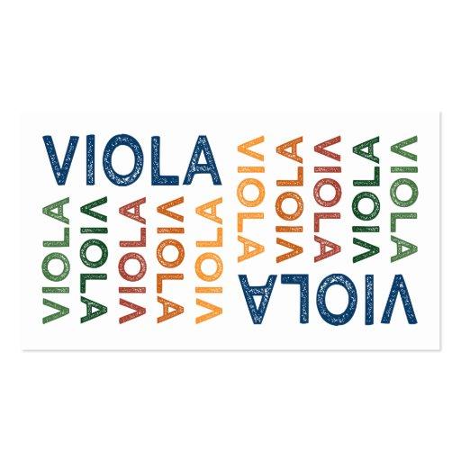 Viola Cute Colorful Business Card Template