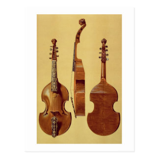 Viola d'Amore, 18th century, from 'Musical Instrum Postcard