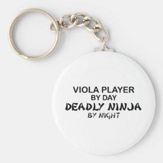 Viola Deadly Ninja by Night Basic Round Button Key Ring