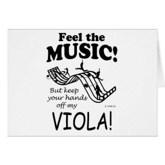 Viola Feel The Music Card