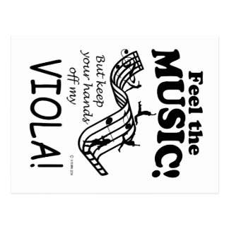 Viola Feel The Music Post Cards
