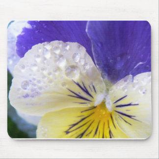 Viola Flowers Mouse Pad
