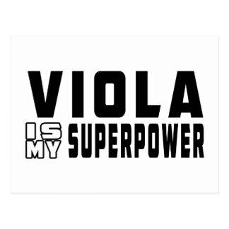 Viola Is My Superpower Postcard
