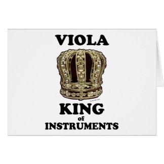 Viola King of Instruments Card