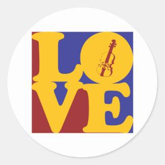 Viola Love Classic Round Sticker